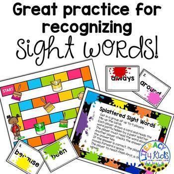 Splattered Sight Words Bundle for Grades 1 and 2