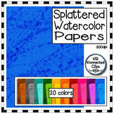 Splattered Watercolor Background Papers