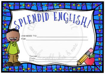 Splendid English!