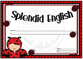 Splendid English Ladybug