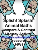 Splish! Splash! Animal Baths Compare and Contrast Activity Treasures 2nd Grade