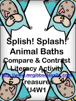 Splish! Splash! Animal Baths Compare and Contrast Activity Treasures 2nd Grade