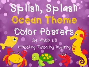 Splish, Splash Color Posters *Freebie*