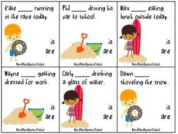 Splish Splash Grammar: Is vs. Are, Has vs. Have, Was vs. Were