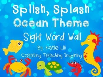 Splish, Splash Ocean Theme Sight Word Wall