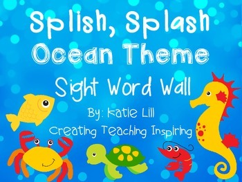 Splish, Splash Ocean Theme Sight Word Wall