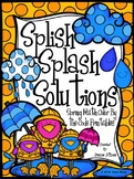 Spring: Splish Splash Solutions ~ Regrouping Math Color By
