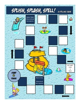 Spelling Game For Any Word List Waterpark Theme - Common Core