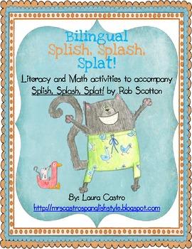 Splish, Splash, Splat -  Bilingual Math and Literacy activities
