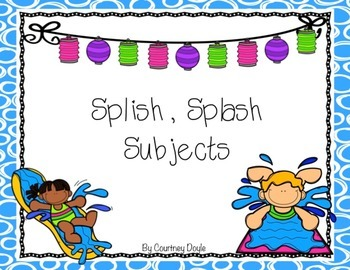 Splish Splash Subjects