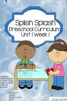 Ocean/Water Unit 1: Scripted Curriculum (Preschool Lessons and Activities)