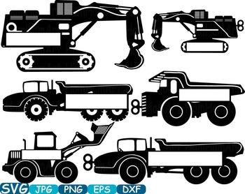 Split Black Construction Machines toy toys cars car clipart work builders -327s