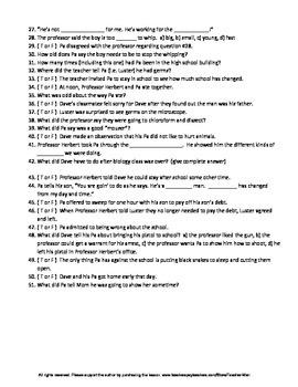 Split Cherry Tree by Jesse Stuart Complete Guided Reading Worksheet
