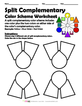 87 color schemes worksheet 6 the complementary color scheme 50 needed worksheets for art. Black Bedroom Furniture Sets. Home Design Ideas