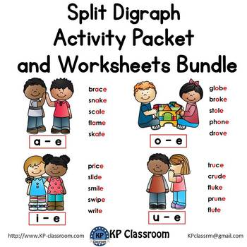 Split Digraphs Activity Packet and Worksheets Bundle