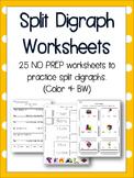 Split Digraphs / Magic e Worksheets - Language Resources - 25 NO PREP pages!
