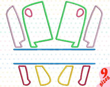 Split Kitchen Embroidery Design Cooking Chef Utensils knife Baking Tools 162b