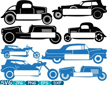 Split Old Cars Sport Antique Car ClipArt Retro Hot Rod circus race toy toys 334S