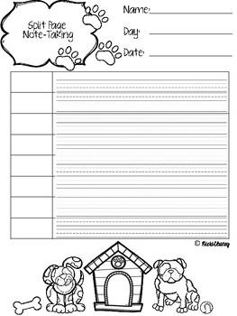 Split Page Note Taking
