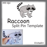 Articulated Paper Doll/Puppet  Raccoon paper template craft