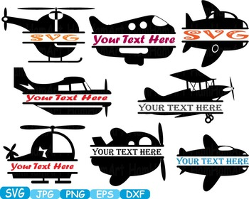 Split Plane toy clip art logo labels frame Helicopter War Army Navy  SCIENCE-295s