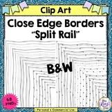 Close Edge Split Rail Borders Mega Set 34 portrait + 34 la