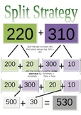 Split Strategy Cards for 2-3 Digit Addition