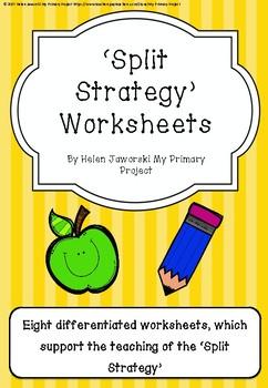 Split Strategy Worksheets