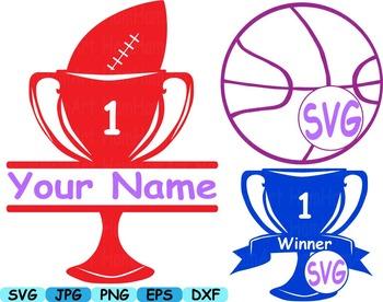 Split circle Sports sport basketball softball soccer svg clipart all star -147s