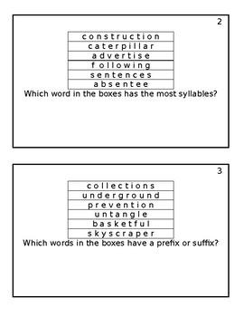 Splitting Multisyllable Words