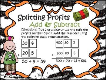 Splitting Profits!! Addition & Subtraction Game
