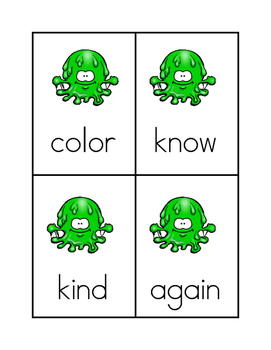 Splotch Sight Word Game #2