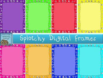 Splotchy Digital Frames/Papers
