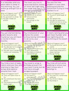 Spoiler Alert! {leveled activities for making predictions}