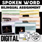Spoken Word Bilingual Assignment: digital poem analysis for heritage speakers