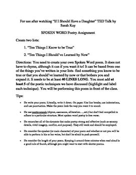 Spoken Word Mini-Lesson