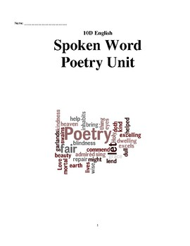 Spoken Word & Poetry Student Unit Pack