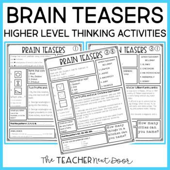 math worksheet : brain teasers for transitions for 3rd  5th grade by the teacher  : 3rd Grade Brain Teasers