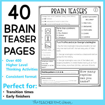 Fan image regarding 4th grade brain teasers printable