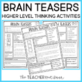 Brain Teasers for Transitions for 3rd - 5th Grade
