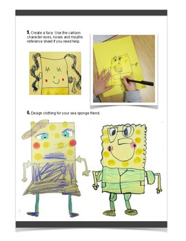 Sponge Friend Art Lesson
