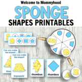 Sponge Shapes (hygiene theme) for Hands-on Shapes Activiti