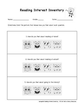 SpongeBob Reading Interest ... by Jen's Literacy Resources ...