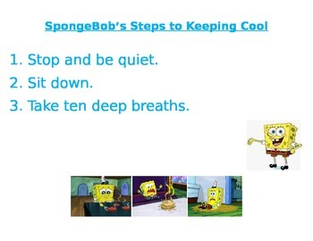 SpongeBob's Steps for Calming Down and Power Card