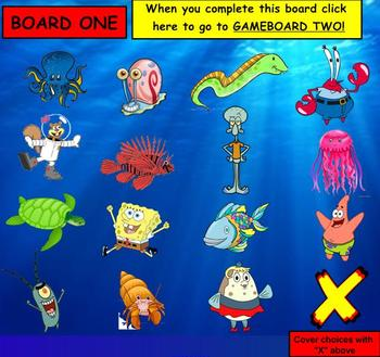 Spongebob Game Template SMARTBOARD