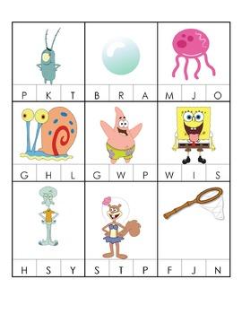 Spongebob Printable Pack