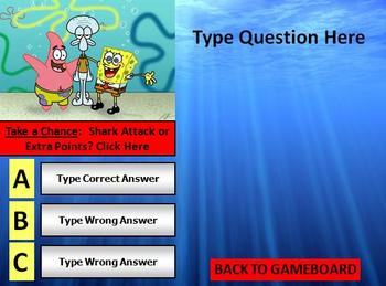Spongebob Review Game Template POWERPOINT