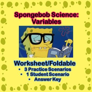 Spongebob Science Variables