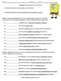 Spongebob Themed Grammar Practice with Phrases and Clauses