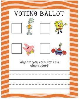 Spongebob Voting Activity